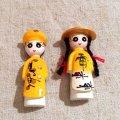 ベトナム  マグネット   民族衣装を着た男の子と女の子   2体セット  イエロー    新品