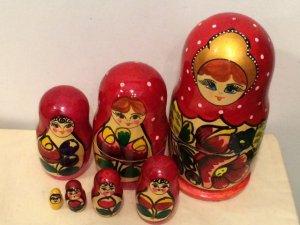 画像1: ロシア  マトリョーシカ  (7)  7体1セット  Lサイズ