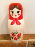 ロシア 魔法瓶 マトリョーシカ 赤